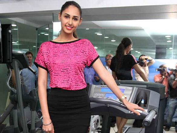Hasleen Kaur Cute Pose at Pilates and Altitude Training Studio