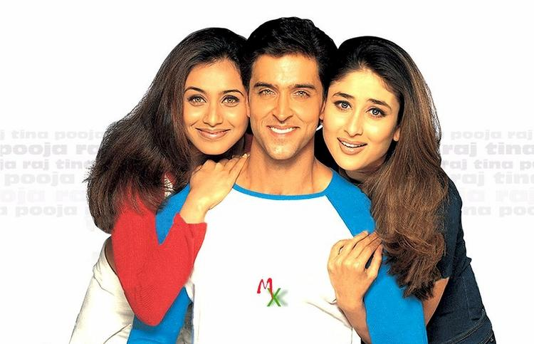 Hrithik,Rani and Kareena in Mujhse Dosti Karoge Wallpaper
