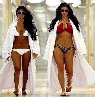 Kim Kardashian Hot Bikini Dress and Sexy Figure Still