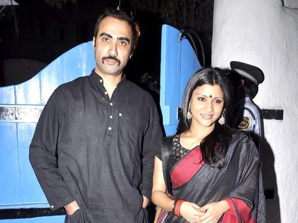 Konkona with husband Ranbir at Dabboo Ratnani's 2012 Calendar Launch