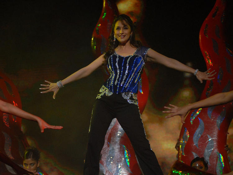 Madhuri Dixit Performing on Stage