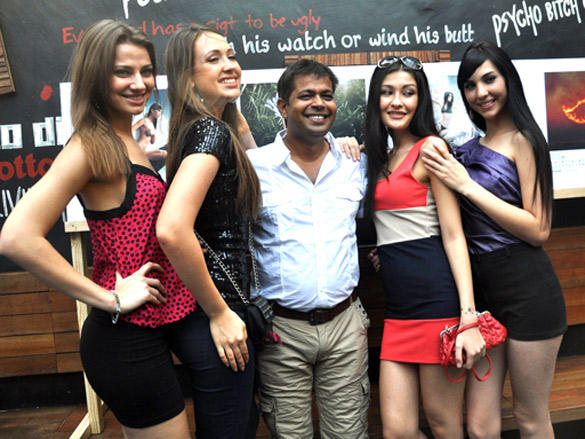 Manish Chaturvedi seen in a jovial mood at the launch of his calendar 2012
