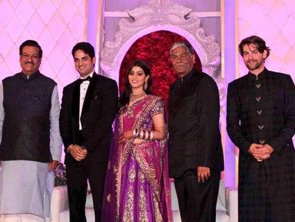 Prithviraj Chavan at Vikas Kalantri wedding reception