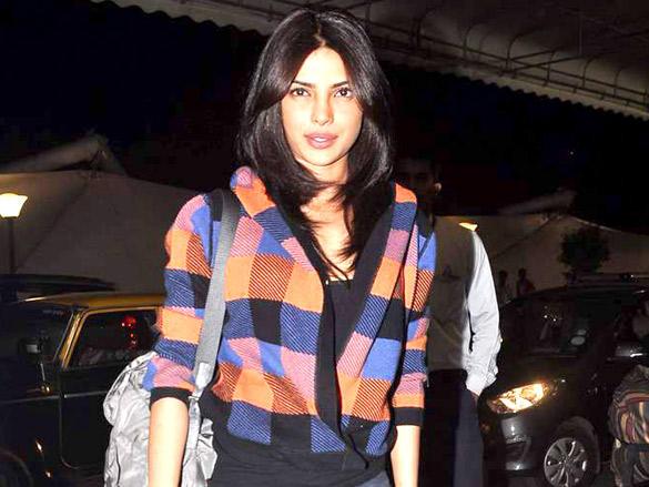 Priyanka Chopra at the Mumbai International Airport