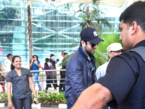 Ranbir Kapoor at the Mumbai airport