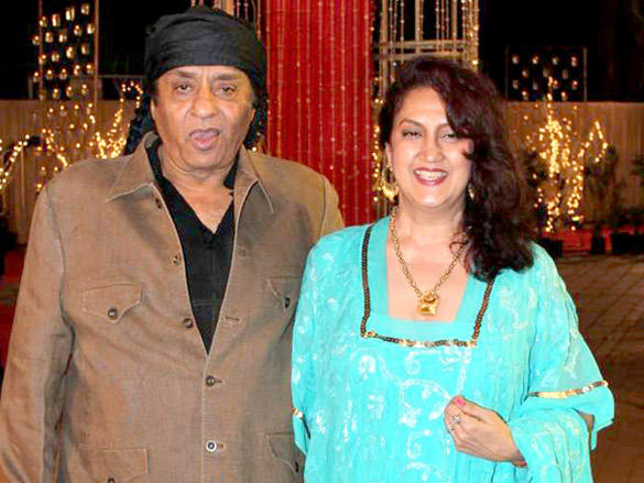 Ranjeet with wife Nazi at Wedding Reception