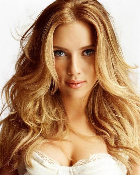 Scarlett Johansson Brown Hair Hot Look