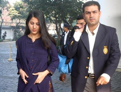 Sehwag with Wife