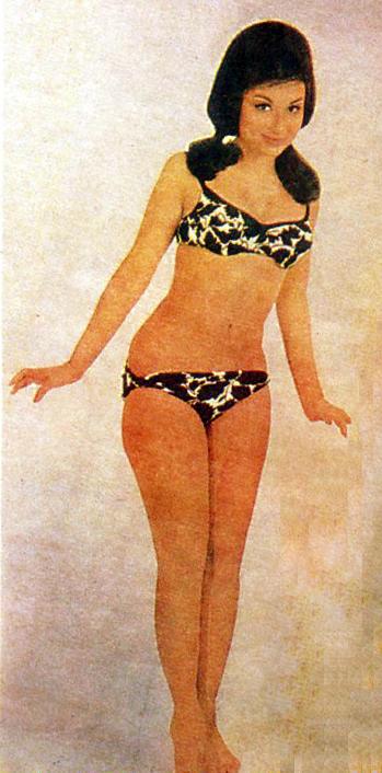 Sharmila Tagore Famous Bikini Shoot 1966