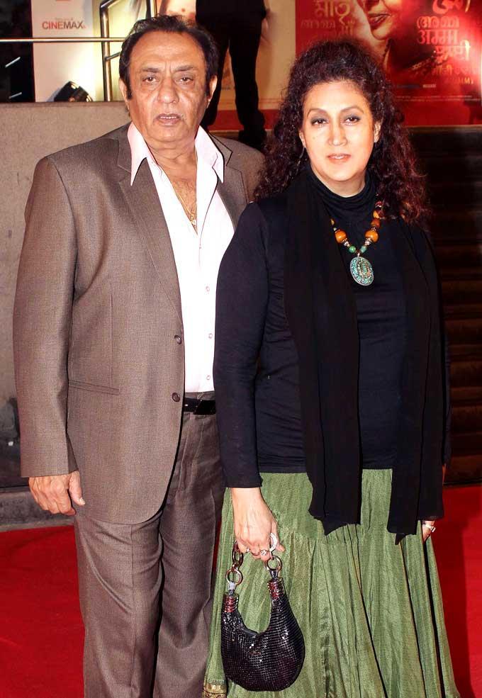 Veteran Actor Ranjeet With Wife Naazneen Make An