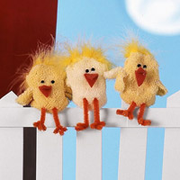 Chicken Puppet Socks