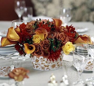 Thanksgiving Floral Arrangements A Guest Post HoneyBear