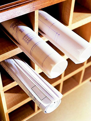 built-in paper separator