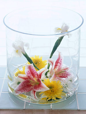 free-form lilies