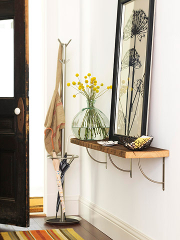 Entryway Shelf