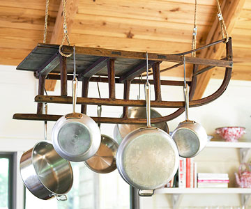 Pot rack from sled