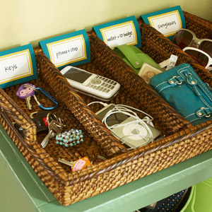 Labeled drawer organizer
