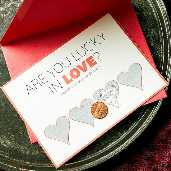 Scratch-off hearts valentine?s card