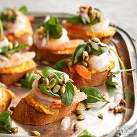 Pumpkin-Shrimp Bruschetta