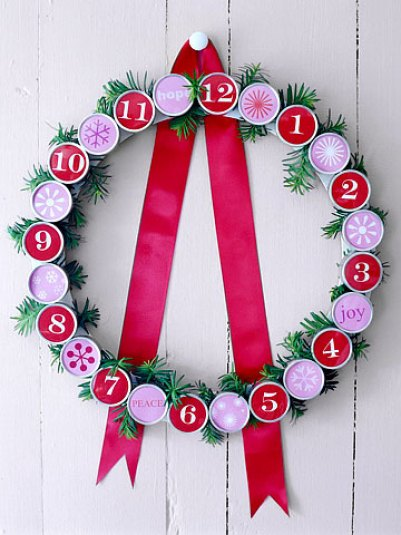 Diy Advent Calendar Wreath : Diy christmas advent calendar ideas