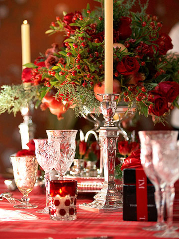 Red & Green Entertaining Tabletop