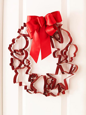 Cookie Cutter Christmas Wreath