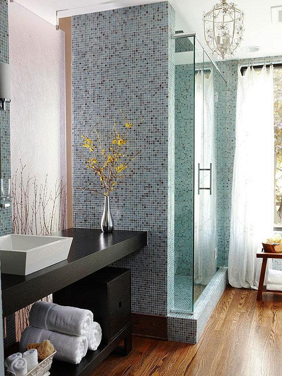 Small Bathroom Ideas: Contemporary-Style Baths