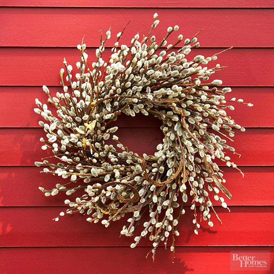 pussy willow fall wreath