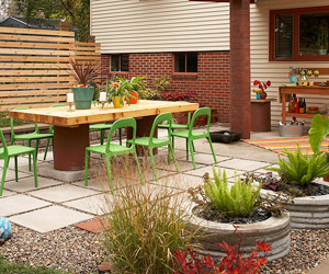 Patios  Design Ideas  Pictures and Makeovers Backyard Patio Transformation
