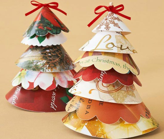 Christmas Card Projects Decorative Ways To Recycle Christmas Cards