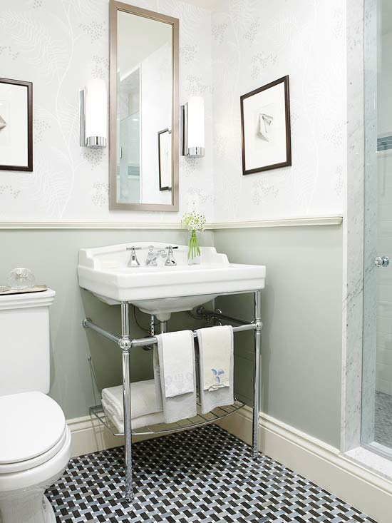 Bathroom Space-Savers - Better Homes and Gardens - BHG.com on Small Space Bathroom  id=44657