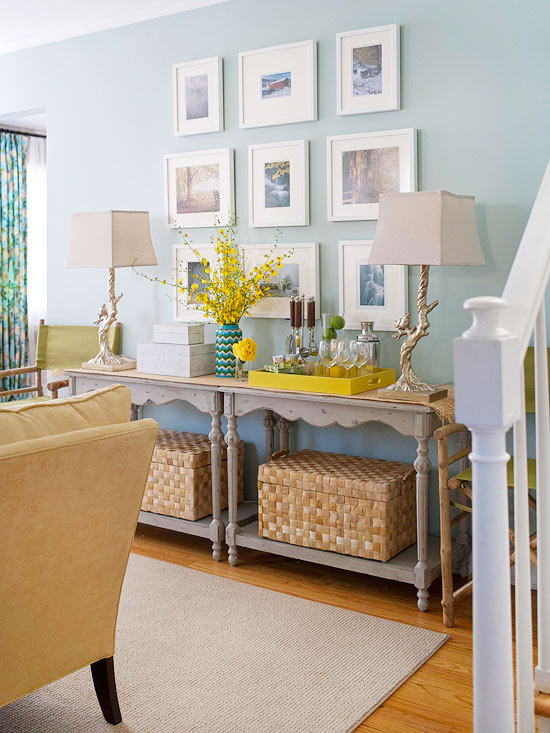 Lanscape print collage via Better Homes and Gardens
