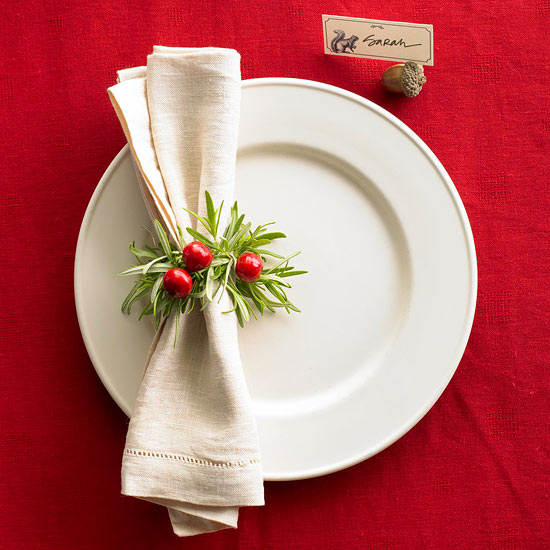 Easy Holiday Place Setting Ideas