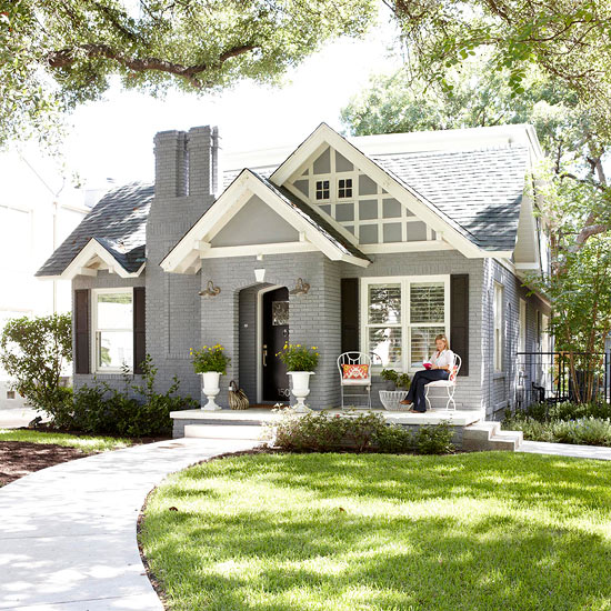 if by blue you mean grey {exterior house paint ideas ... on Brick House Painting Ideas  id=51073