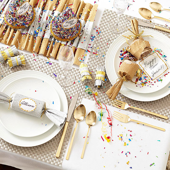 Easy Ideas for New Year's Tables