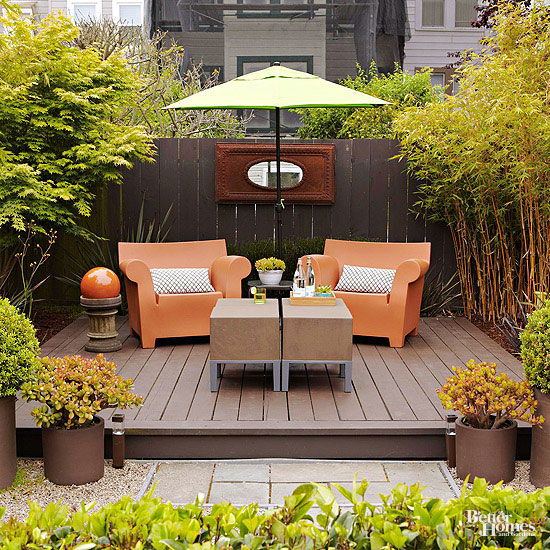 Small + Simple Outdoor Living Spaces on Small Backyard Living Spaces  id=83656