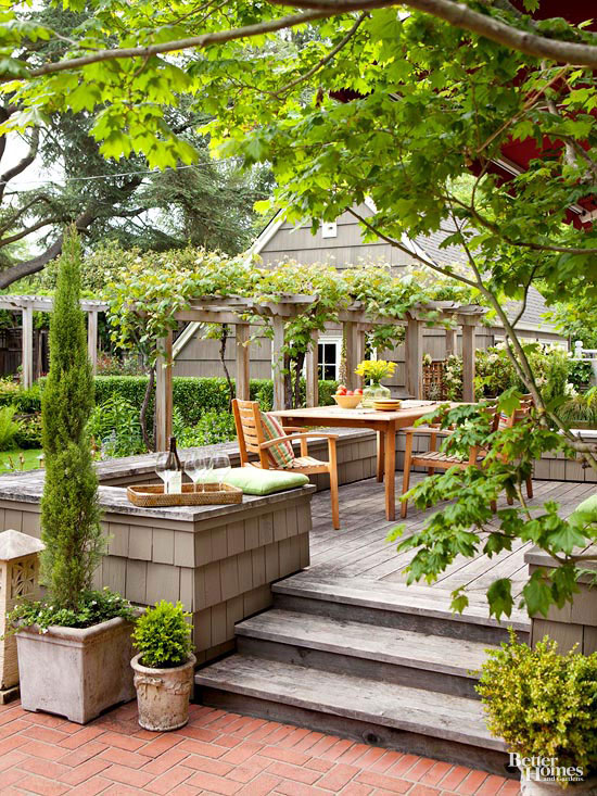 Small + Simple Outdoor Living Spaces on Small Backyard Living Spaces  id=38610