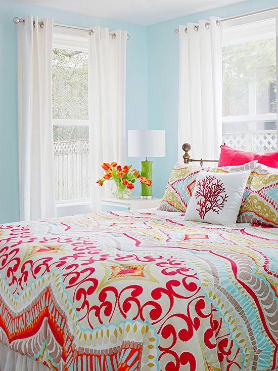 real-life colorful bedrooms - better homes and gardens - bhg