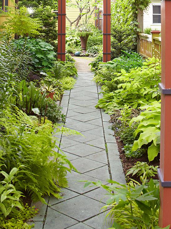 Garden Path Ideas: Cut Stone Walkways on Patio And Path Ideas  id=19082