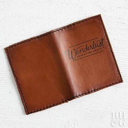 opened homemade leather wallet