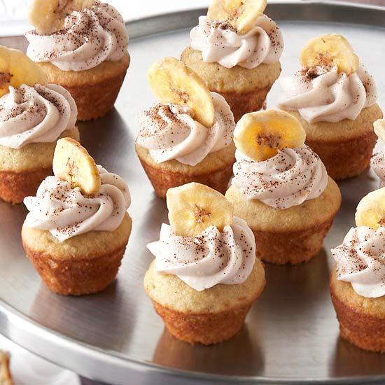 Mocha Filled Banana Cupcakes