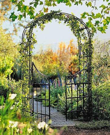 Steel Arbor Gate