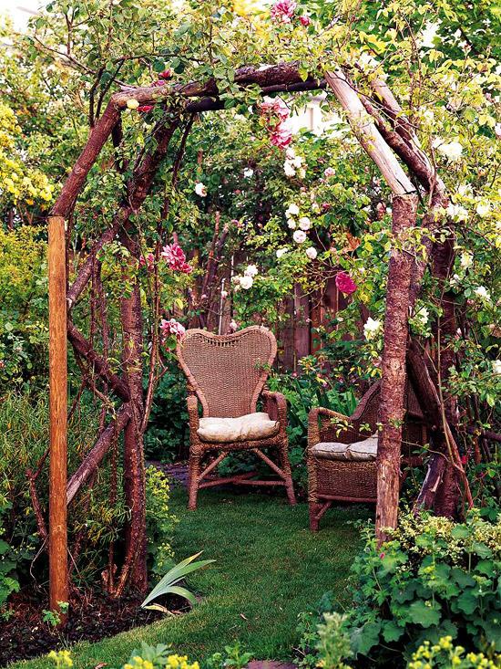 Rose-Covered Arbor