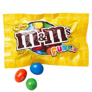 Fun size peanut M&Ms