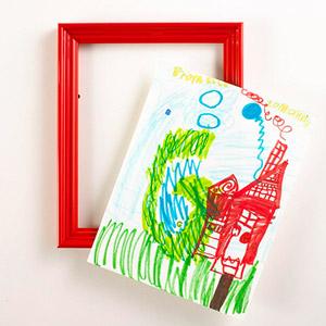 red professional fram for kids artwork
