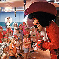 live show with Captain Hook on Disney Wonder?s 5-night Bahamian