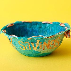 Spare Change Papier-Mache Bowl