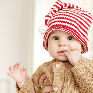 Cute baby wearing hat