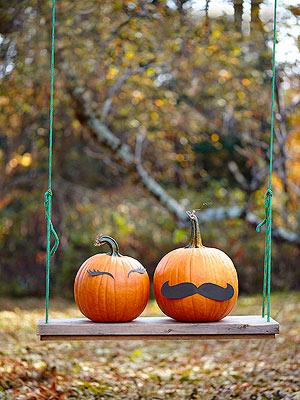 Pumpkins with cardstock