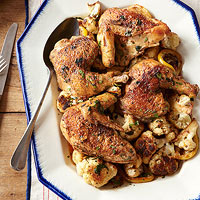 Pan-Roasted Chicken with Cauliflower